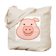 Happy Pig Face Tote Bag