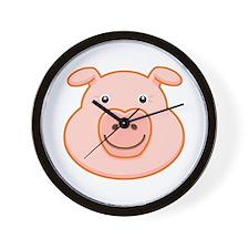 Happy Pig Face Wall Clock
