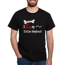NB_Italian Greyhound Black T-Shirt