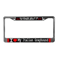 NB_Italian Greyhound License Plate Frame