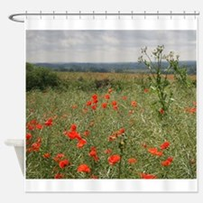 Poppies Beyond Poppies Shower Curtain