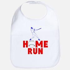 HOME RUN - BASEBALL SLUGGER Cotton Baby Bib