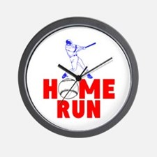 HOME RUN - BASEBALL SLUGGER Wall Clock
