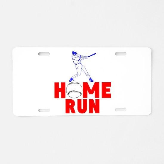 HOME RUN - BASEBALL SLUGGER Aluminum License Plate
