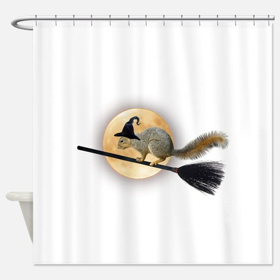 Witch Squirrel Shower Curtain