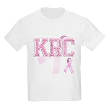 KRC initials, Pink Ribbon, T-Shirt