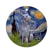Starry Night Scottish Deerhound Ornament (Round)