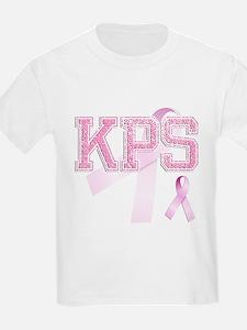 KPS initials, Pink Ribbon, T-Shirt