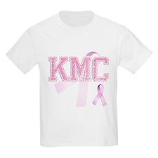 KMC initials, Pink Ribbon, T-Shirt
