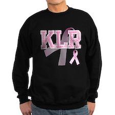 KLR initials, Pink Ribbon, Sweatshirt