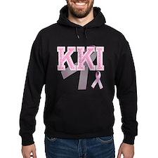 KKI initials, Pink Ribbon, Hoodie