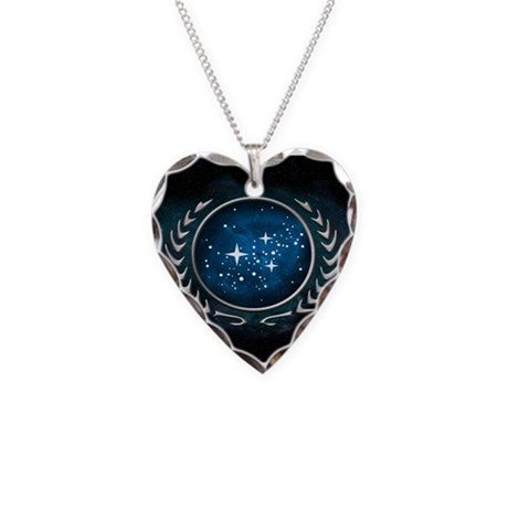United Federation of Planets Necklace Heart Charm
