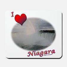 I Love Niagara Falls Mousepad