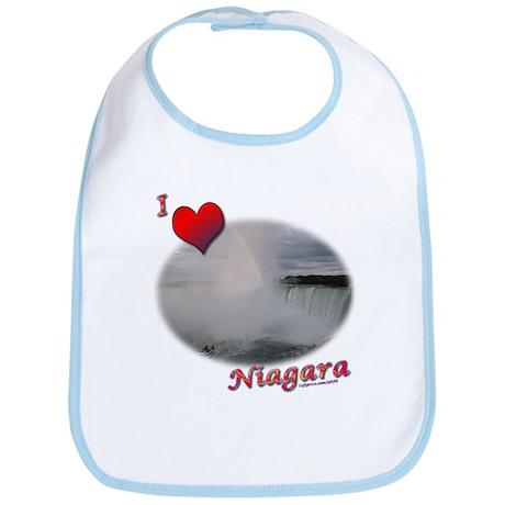 I Love Niagara Falls Bib
