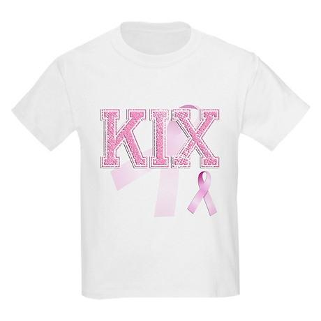 KIX initials, Pink Ribbon, Kids Light T-Shirt