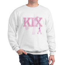 KIX initials, Pink Ribbon, Sweatshirt