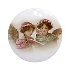Christmas Angels singing Ornament (Round)