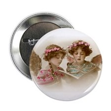 """Christmas Angels singing 2.25"""" Button"""