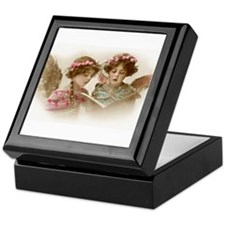 Christmas Angels singing Keepsake Box