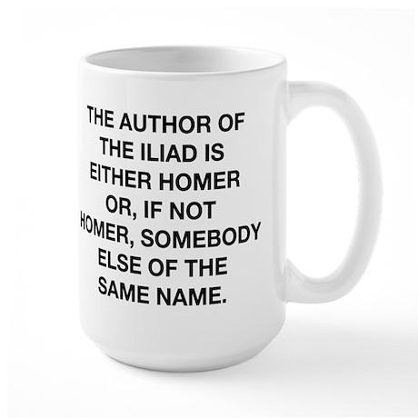 The Author Of The Iliad Large Mug