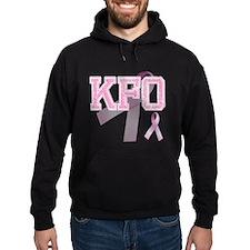KFO initials, Pink Ribbon, Hoodie