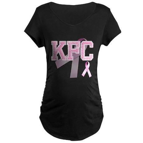 KFC initials, Pink Ribbon, Maternity Dark T-Shirt