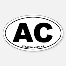 AC (Atlantic City) Oval Decal