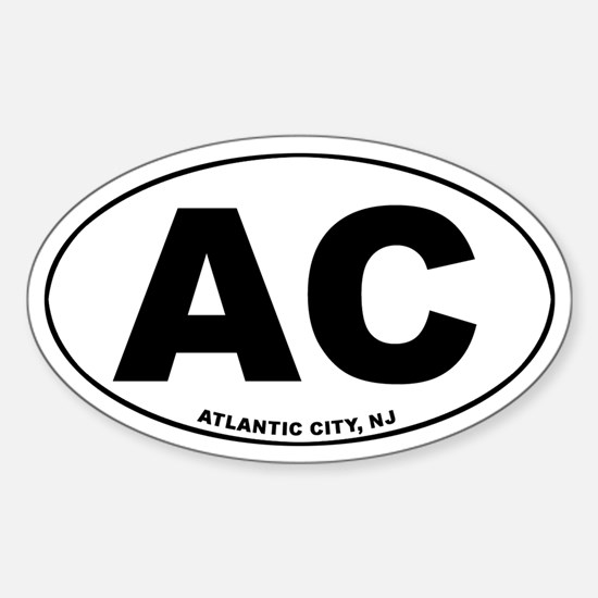 AC (Atlantic City) Oval Decal