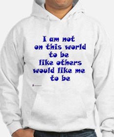 Not on this World, blue Hoodie