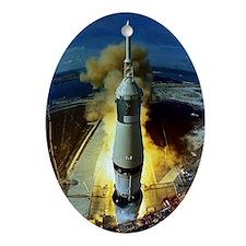 Apollo 11 Launch Oval Ornament