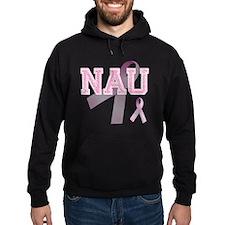 NAU initials, Pink Ribbon, Hoodie