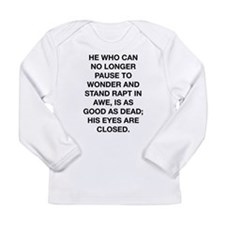Stand In Awe Long Sleeve Infant T-Shirt