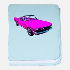 1965 Ford Mustang Convertible baby blanket