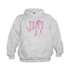 JLO initials, Pink Ribbon, Hoodie