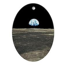 Earth Rising Oval Ornament