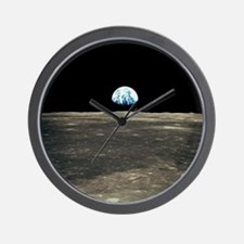 Earth Rising Wall Clock