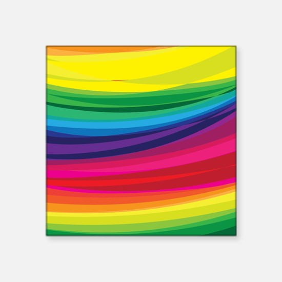 Bright Multicolored Rainbow Arcs Sticker