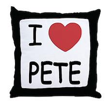 I heart PETE Throw Pillow