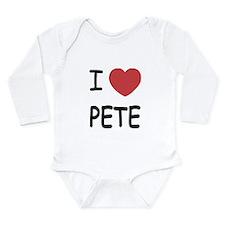 I heart PETE Long Sleeve Infant Bodysuit