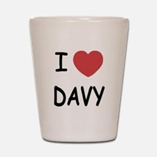 I heart DAVY Shot Glass