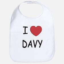 I heart DAVY Bib