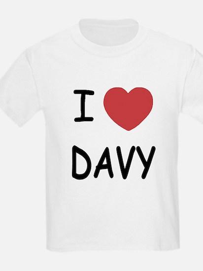 I heart DAVY T-Shirt