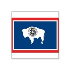 "Wyoming Square Sticker 3"" x 3"""