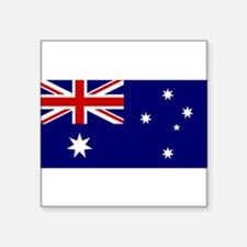 "Australian Flaf Square Sticker 3"" x 3"""