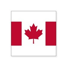 "Canadian Flag Square Sticker 3"" x 3"""