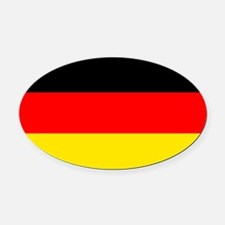 German Flag Oval Car Magnet