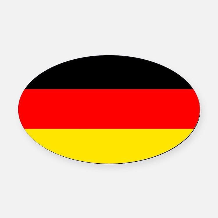 German Flag Oval Car Magnet