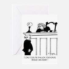 Crime Cartoon 3816 Greeting Cards (Pk of 20)