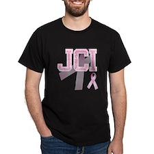 JCI initials, Pink Ribbon, T-Shirt