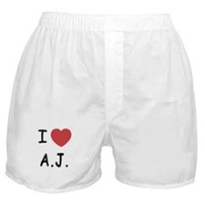 I heart A.J. Boxer Shorts
